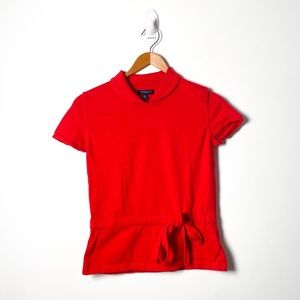 Burberry Red Y2K Short Sleeve Knit Tee